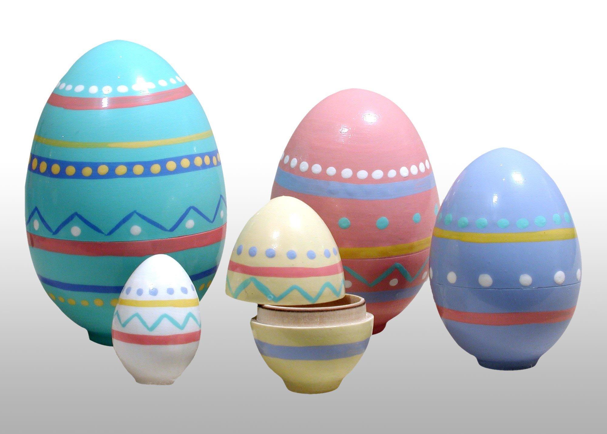 Nesting Easter Eggs 5pc./4'' by Golden Cockerel
