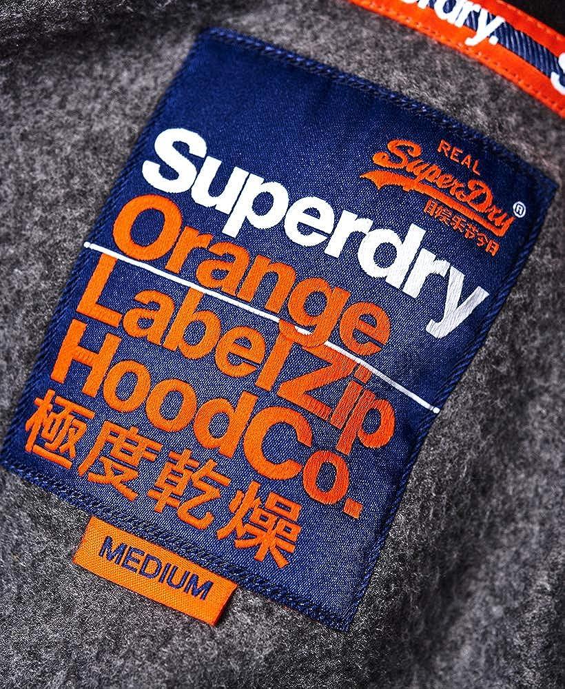 Superdry Orange Label Raglan Zip Hoodie