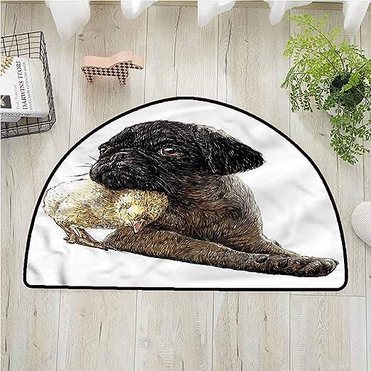 Alfombra de dormitorio de pug de Desptonmats, diseño de cachorros ...