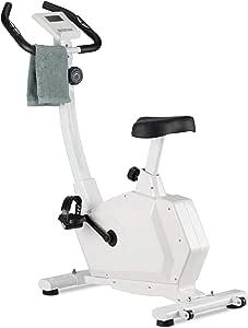 Relaxdays, Blanco, 114,5x43x109 cm Bicicleta Estática con Pantalla ...