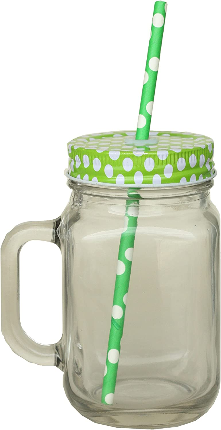 Metallic Glass Cup with Lid and Straw
