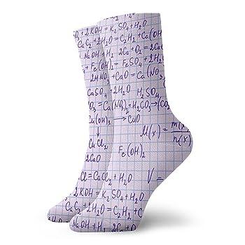 Chemical Notation On Sheet Men & Women Fashion Cute Novelty Funny Casual Art Crew Socks