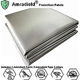 "Earth Grounding Faraday RFID Shielding Fabric-Block WiFi/RF-Anti-Radiation Conductive Magnetic Copper/Nickel EMF Protection Fabric 39""x43"" inch"