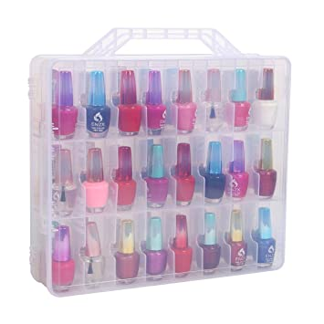 Surprising Clear Nail Polish Cosmetic Display Cases Guelau Polish Storage Organizer Holder 48 Bottles Adjustable Dividers Interior Design Ideas Tzicisoteloinfo