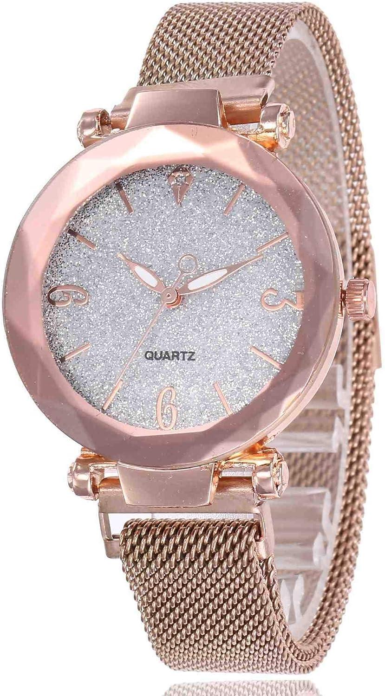 DSNGZ Montres Bracelet Montres Bracelet à Quartz, à la Mode, incrustée de Poudre, de Diamants, de Mode et d'argent White