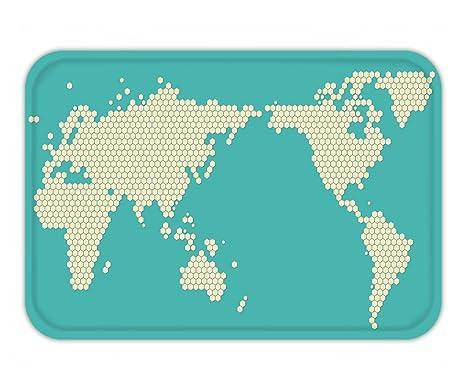 Amazon beshowere doormat modern world map pixel vector beshowere doormat modern world map pixel vector gumiabroncs Choice Image