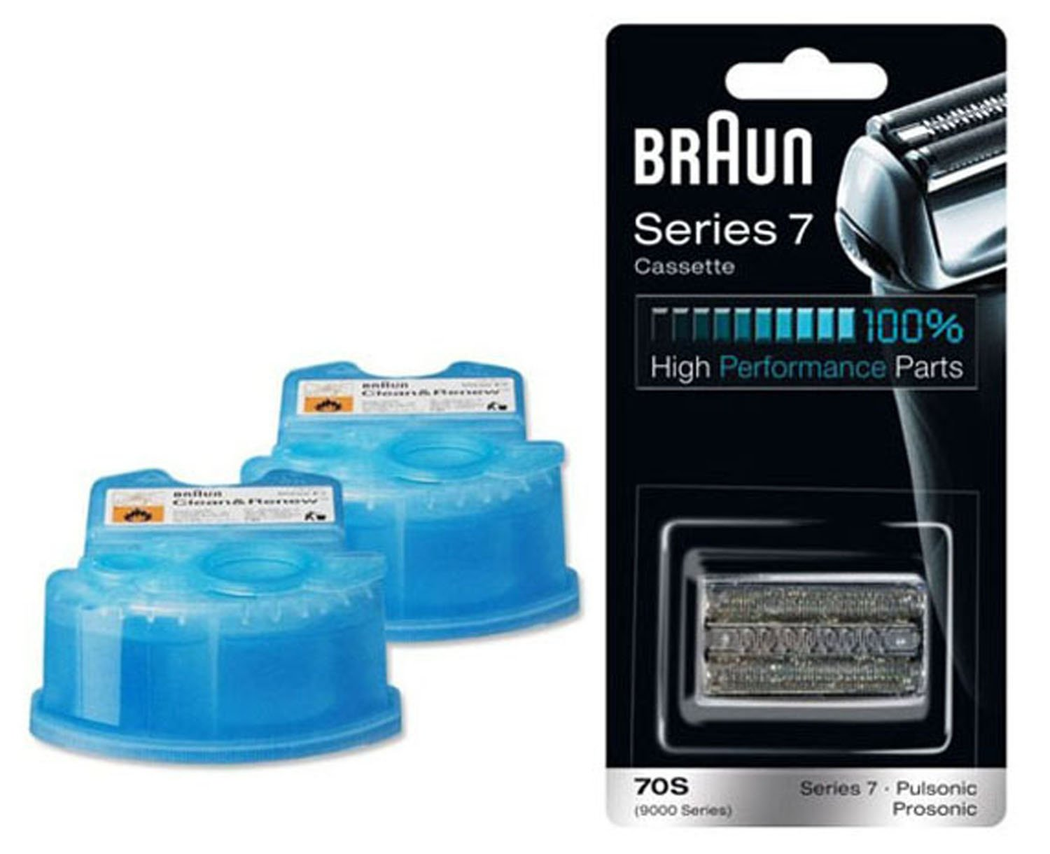 BRAUN 70S + CCR2 Cassette + Clean & Renew Refills CCR 2 Replacement Pack
