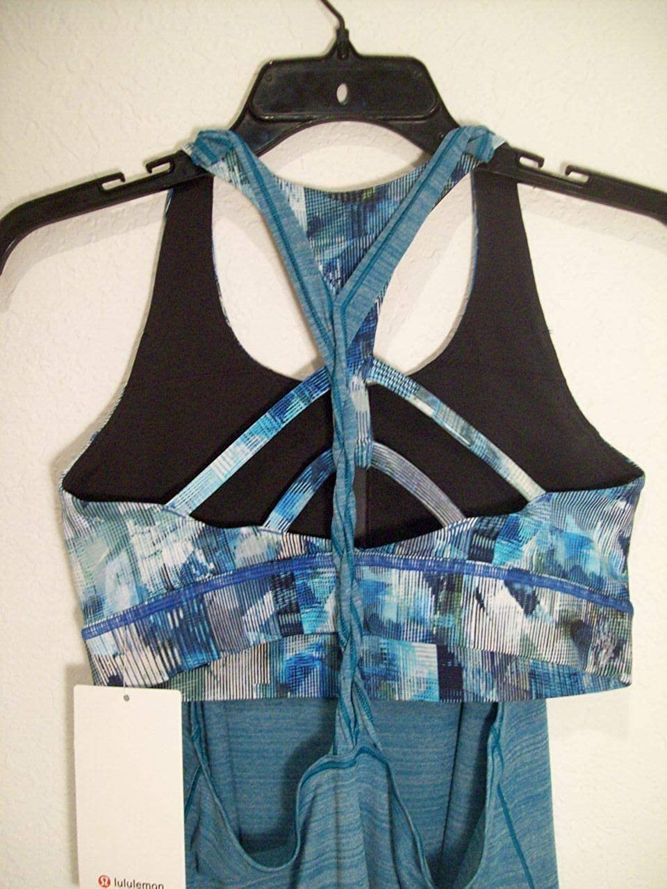 a2a4231c30 Amazon.com  Lululemon Women s Twist and Toil Tank Heathered Teal W Build in  Bra Support C D Cup- Rare- sz 8  Clothing