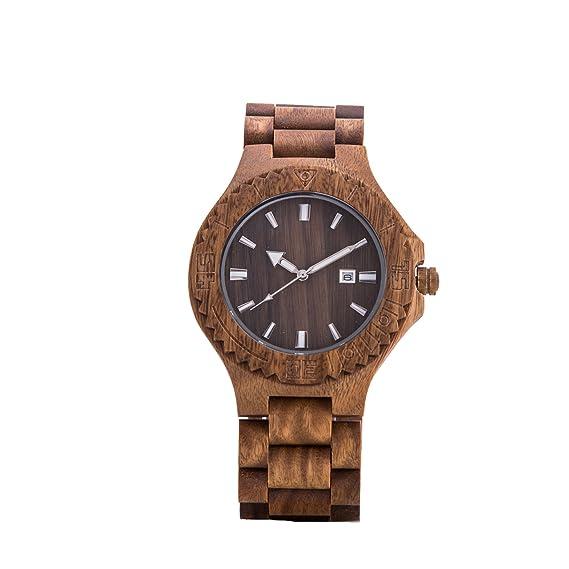 14491fd3c554 kenon - Reloj de madera verde sándalo Japón Miyota movimiento Sony  recargable  KENON  Amazon.es  Relojes