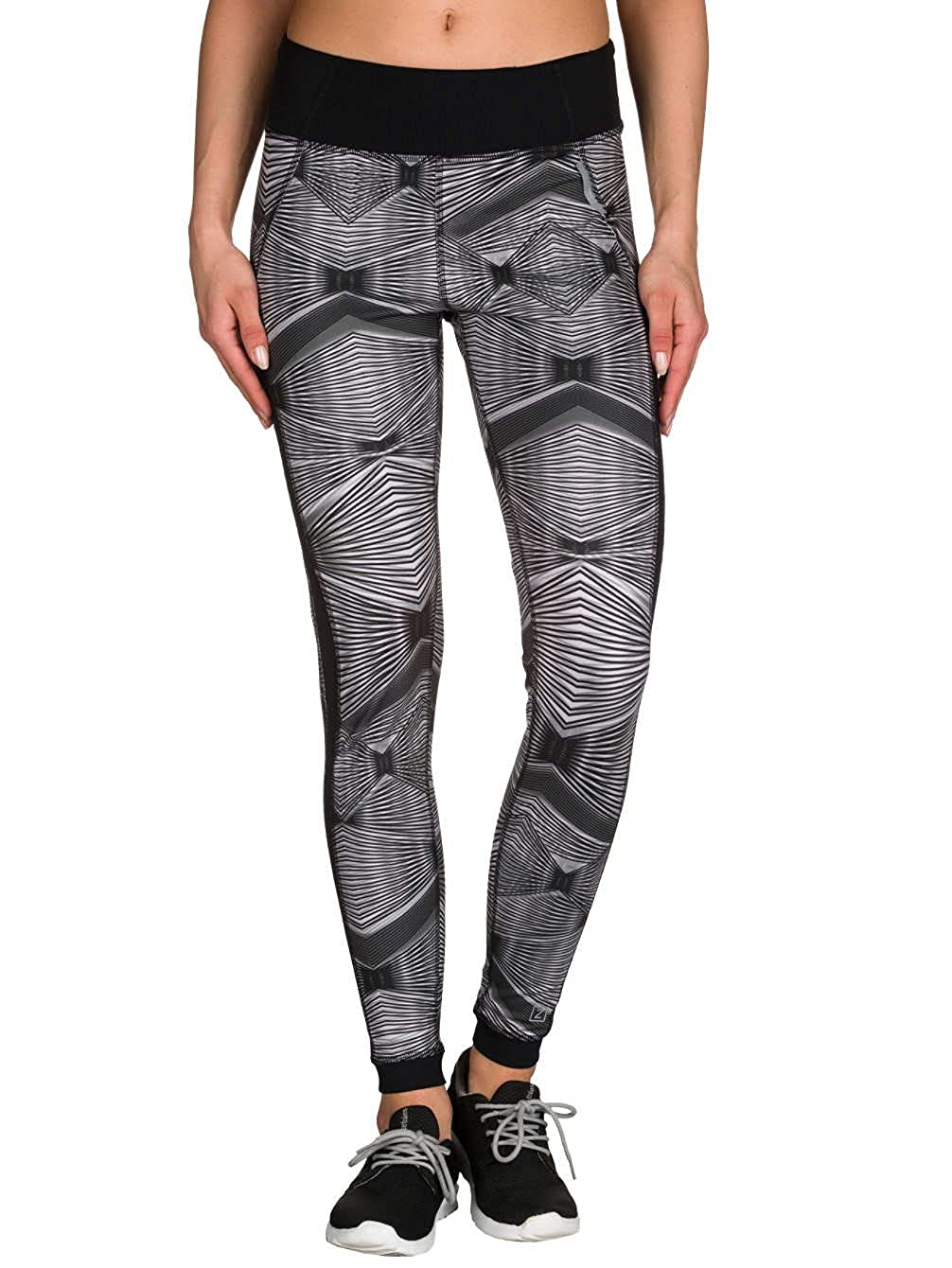 9ba461b901 Zobha Women's Hendrix Fitted Printed Legging with Mesh Side Panels at Amazon  Women's Clothing store: