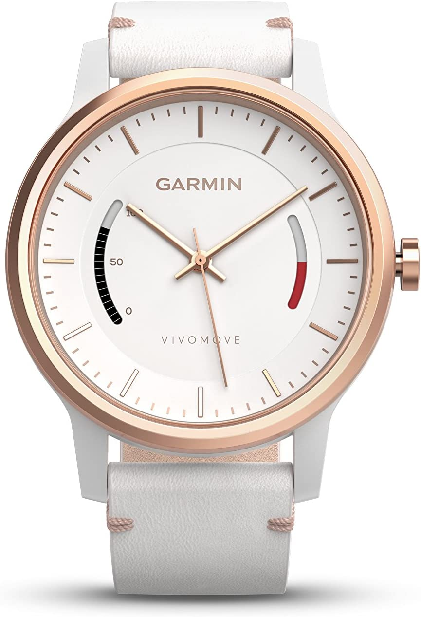 Garmin vívomove Classic - Rose Gold-Tone with Leather Band