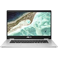 "ASUS Chromebook C523 15.6"" FHD NanoEdge Display with 180 Degree Hinge Intel Dual Core Celeron N3350 Processor, 8GB RAM…"