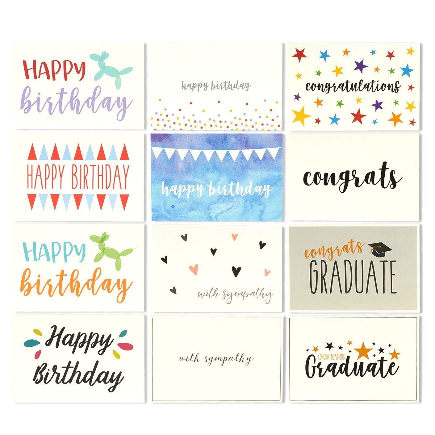 Amazon Com 48 All Occasion Greeting Cards Assorted Happy