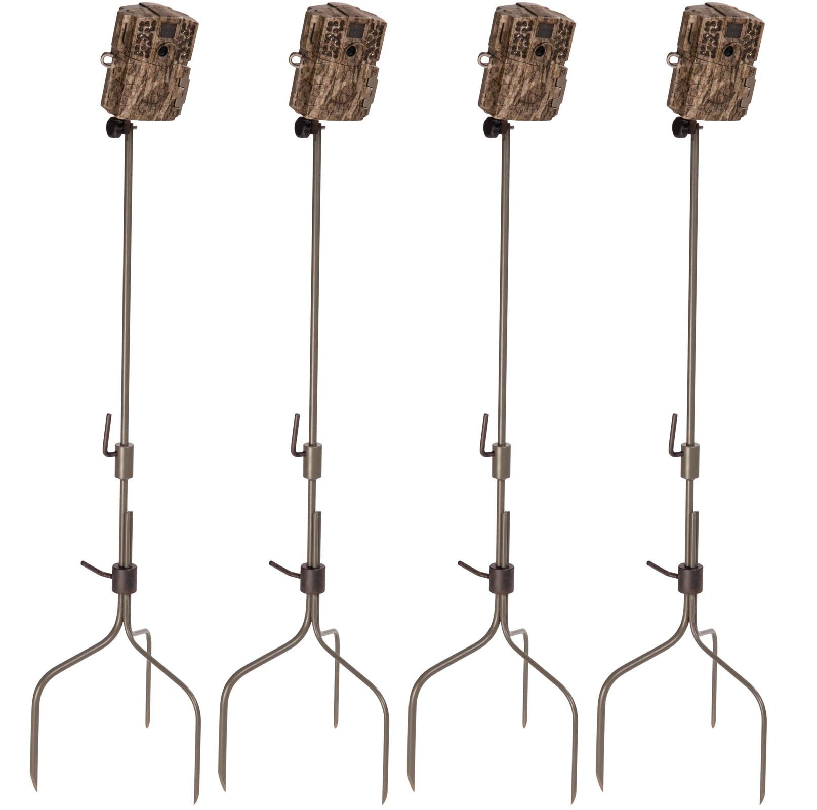 (4) Moultrie Universal Infrared Game Hunting Camera Steel Stakes   MCA-13051