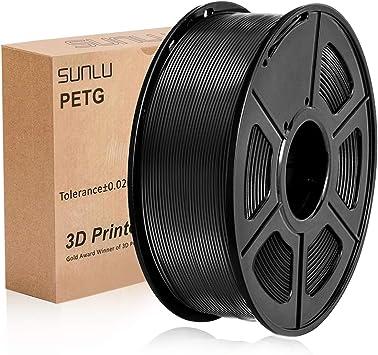 SUNLU PETG Filamento 3D 1.75mm 1KG (2.2lb), Filamento de impresora ...