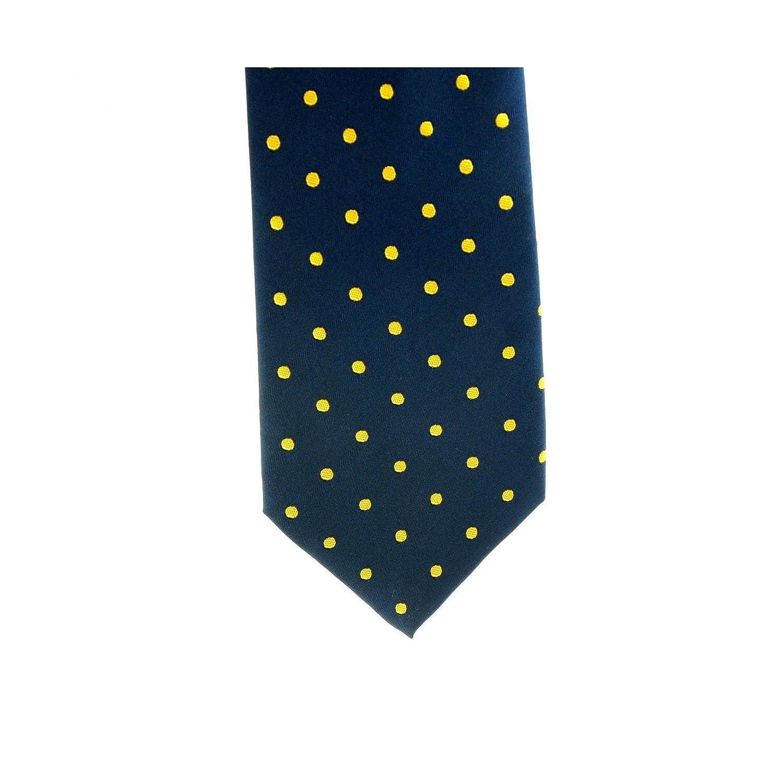 ShowQuest - Corbata mediana de lurex con lunares (Infantil/Azul ...