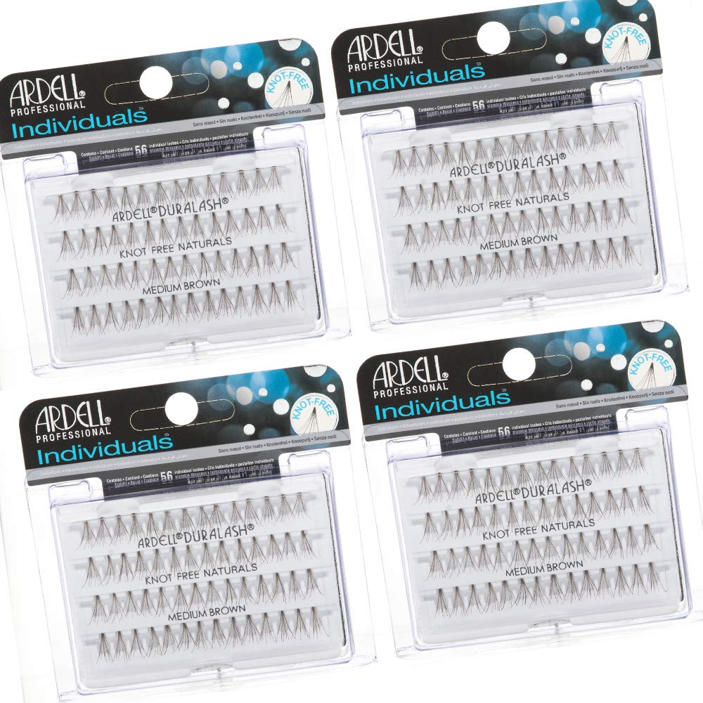 Ardell Individuals False Eye Lashes Medium Brown 4 Pack