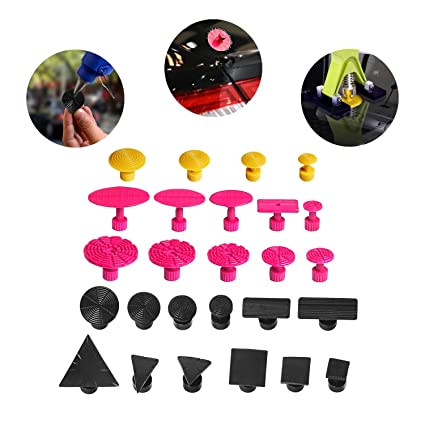 Super Pdr 26pcs Diy Auto Paintless Dent Removal Body Repair Tool Kits Pdr Puller Sets Pro Glue Puller Tabs