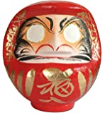 """Daruma doll (Dharma doll), Size No.2, Japanese traditional figurines that bring luck, Handmade by japan's top meister, Paper-mache, 6.7""""H"""