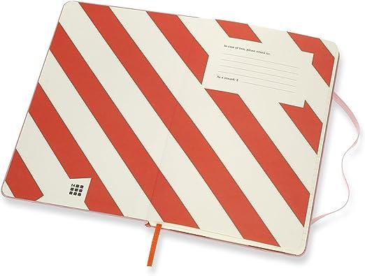 pink Moleskine Notizbuch Rolling Stones, L//A5, Liniert, Hard Cover
