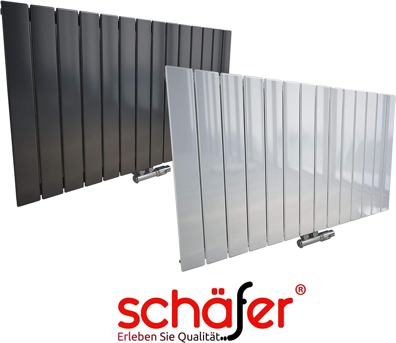 500 x 1254 mm, Wei/ß Design Heizk/örper EMPIRE Paneelheizk/örper Mittelanschluss NEU.