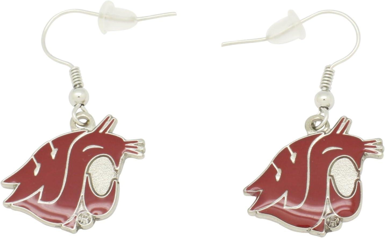 aminco NCAA Dangler Earrings, Washington State Cougars