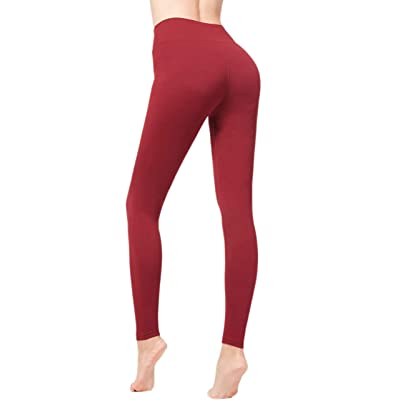 85 High-Waisted Womens Leggings PlusYoga Pants Full-Length Opacity Plus-Size 9 Colors at Women's Clothing store