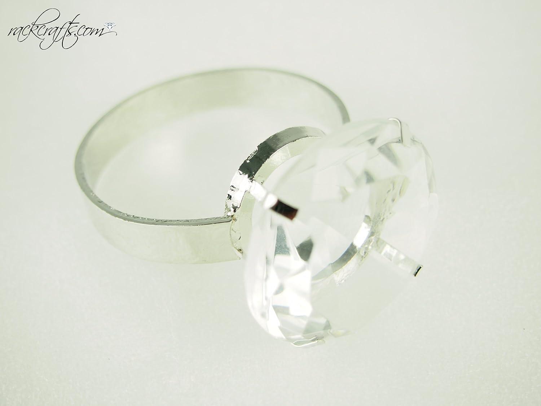 Amazon Rackcrafts Diamond Gemstone Ring Jewelry Cake Topper Napkin Holder Tablescatter Wedding Jumbo Kitchen Dining: Cake Topper Wedding Silver Diamond Ring At Websimilar.org
