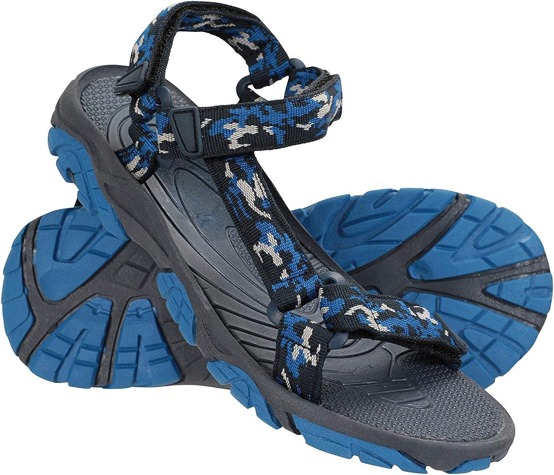 Mountain Warehouse Sandalias Tide para niños - Forro de Neopreno, Zapatos para niños con Suela 100% Goma, Zapatos de Verano con Cierre de Gancho y Bucle - para Caminar Cobalto 36