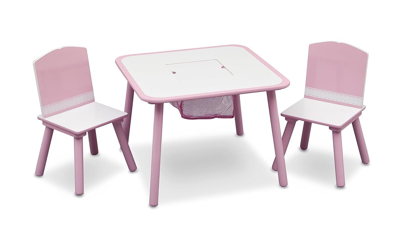 Delta - Set tavolo e sedia da bambina, colore: Rosa Delta Children TT89513GN