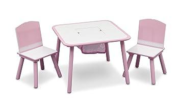 Delta - Set tavolo e sedia da bambina, colore: Rosa: Amazon.it ...