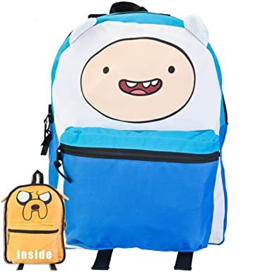 c3f5a26fe0 Image Unavailable. Image not available for. Color  Adventure Time Finn Jake  Reversible Backpack