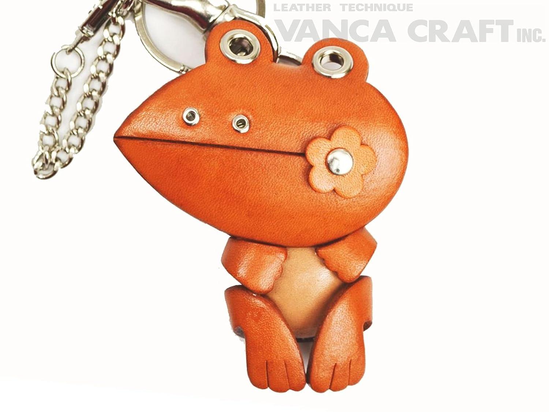 Genuine Leder bag charm frog [product made in Japan, handmade new] (japan import)
