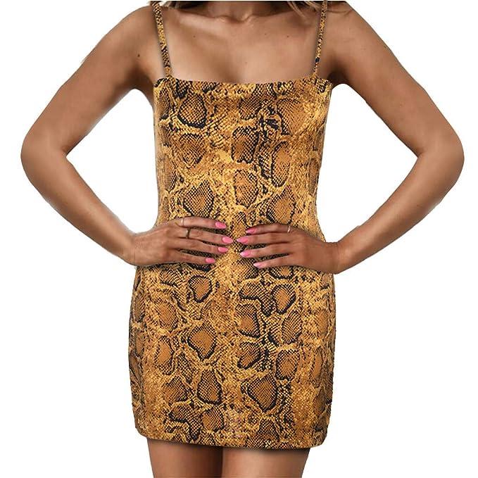 Womens Bodycon Dress Full Slip Sleeveless Strappy Leopard Cami Dress  Nightclub Cocktail Mini Wrap Pencil Dresses  Amazon.co.uk  Clothing 41034aa1ecfa