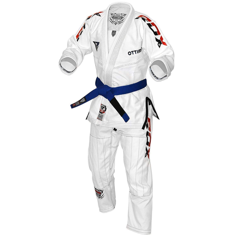 RDX BJJ GI Jiu Jitsu Kimono Brazillian Attila Serie UFC Karate Cinturón para La Competencia Tamaño