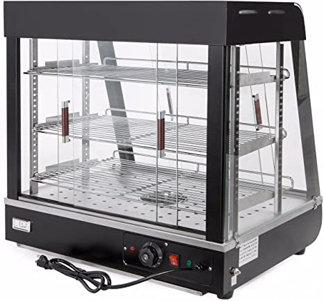 Amazon Com 9trading Commercial Food Warmer Court Heat Food Pizza Display Warmer Cabinet 27 Glass Kitchen Dining