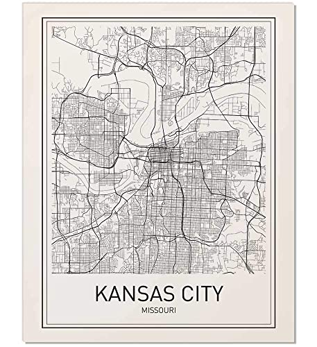 Amazon.com: Kansas City, Kansas City Map, City Map Posters, Kansas ...