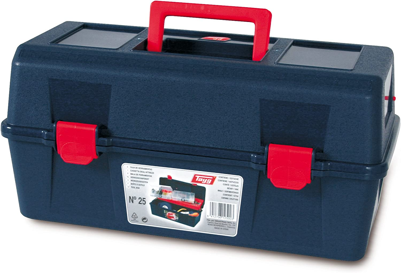 Tayg Caja herramientas plástico n. 25, negro, 400 X 206 X 188 mm