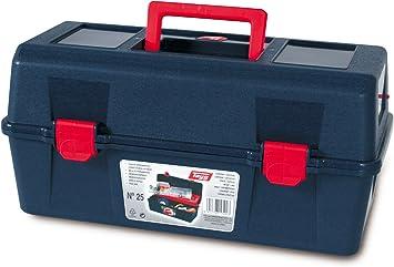 Tayg Caja herramientas plástico n. 25, negro, 400 X 206 X 188 mm: Amazon.es: Bricolaje y herramientas