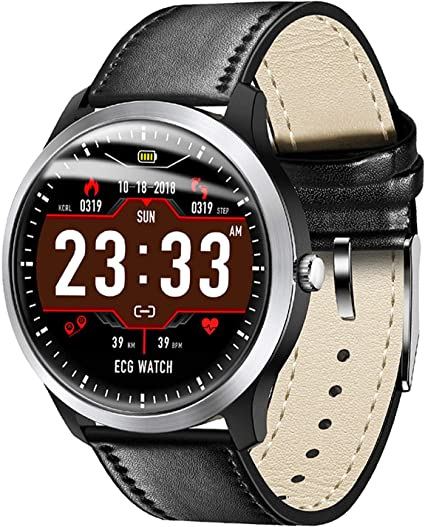 Smart Watch ECG PPG Heart Rate Blood Pressure Monitor Step Counter Calorie Sleep Tracker iOS Smartwatch Android