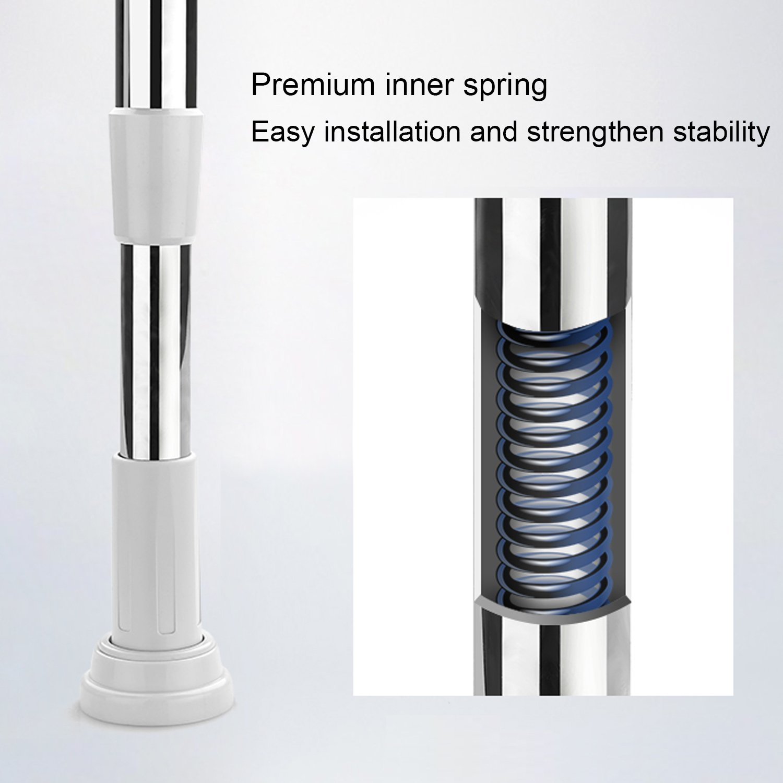tension rod 27 48inch kop adjustable curtain shower rod extendable 601285048192 ebay. Black Bedroom Furniture Sets. Home Design Ideas
