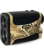 AOFAR Range Finder 1000 meter Waterproof for Hunting Golf, 6X 25mm Measurer Laser Rangefinder with Speed Scan and Fog, Free Battery