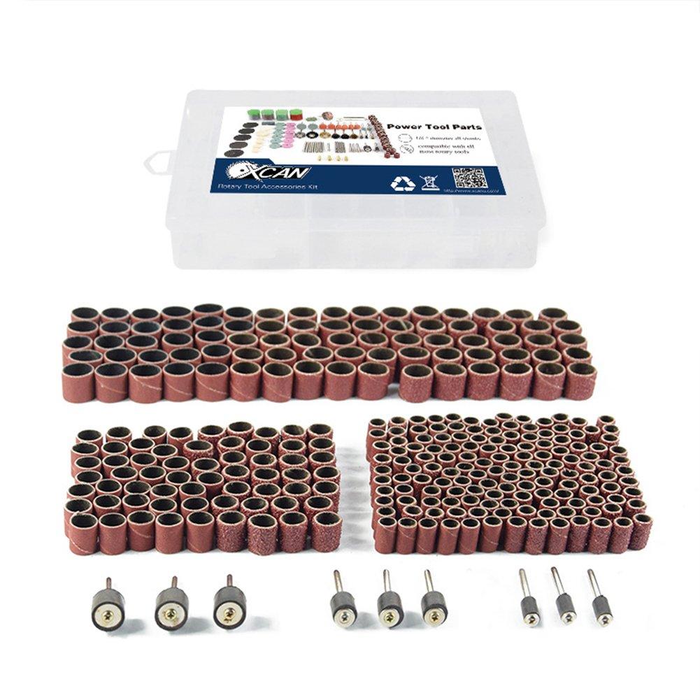 338pcs Sanding Drum Kit with Free Box fits Dremel Includes Rubber Drum Mandrels - 1/2, 3/8 & 1/4''#21-MST