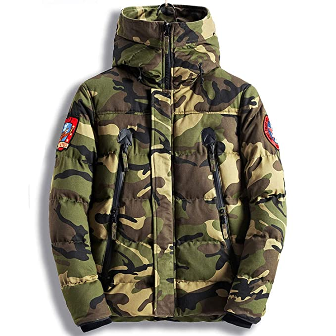 Amazon.com: Parka Men Winter Jackets Cotton Chaquetas Hombre Camo Overcoat Mens Casual Camoufla,Camo Green,L: Clothing