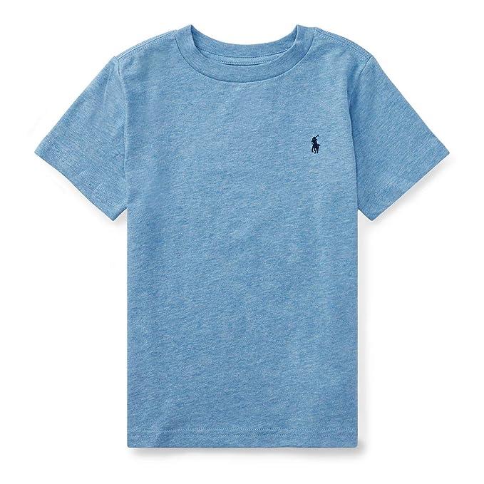 dba53dd5e8da0 Image Unavailable. Image not available for. Color  RALPH LAUREN Little Boys  Polo Crewneck Tee Solid ...