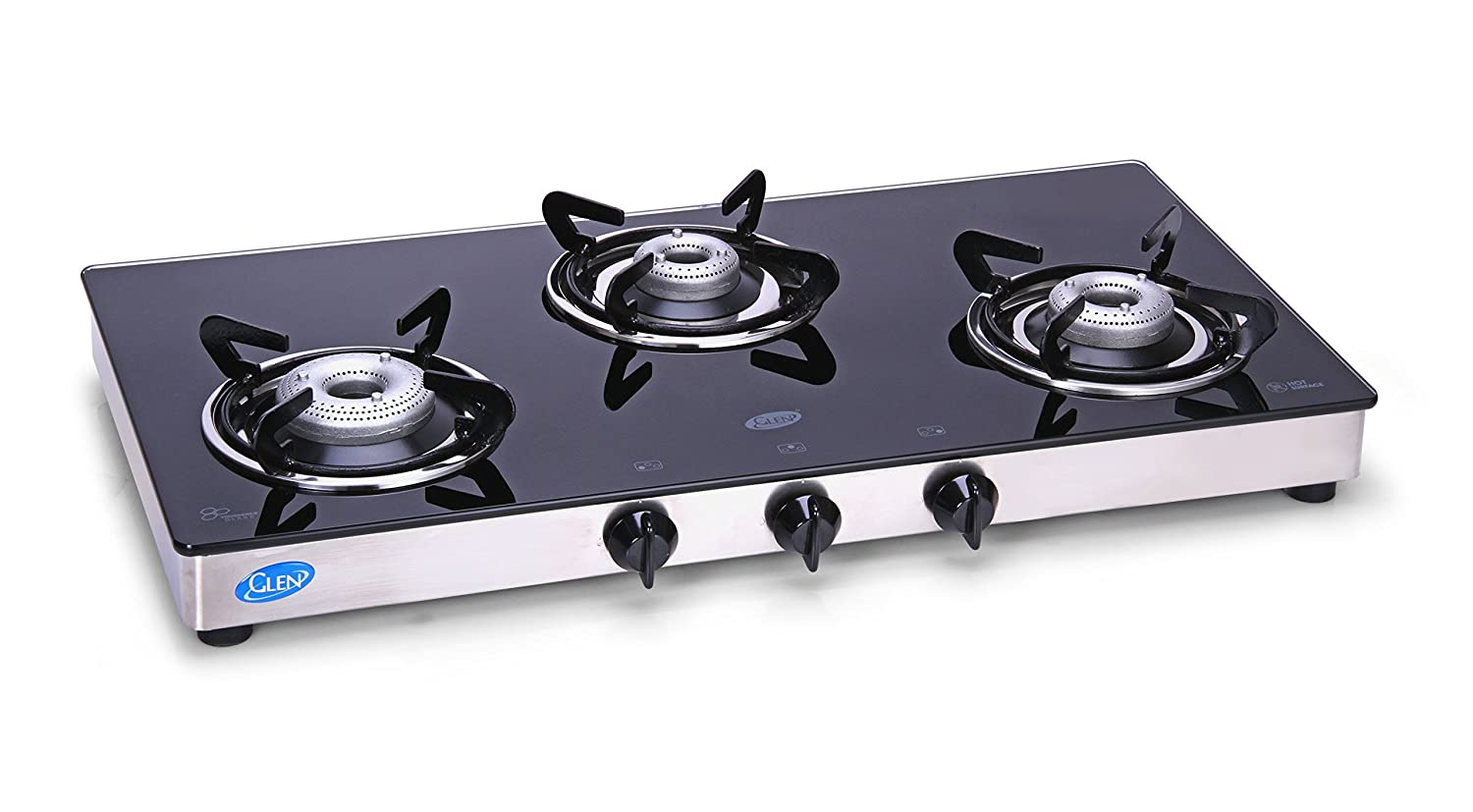 Buy Glen Glass 3 Burner Cooktop, Black/Silver Online At Low Prices In India    Amazon.in