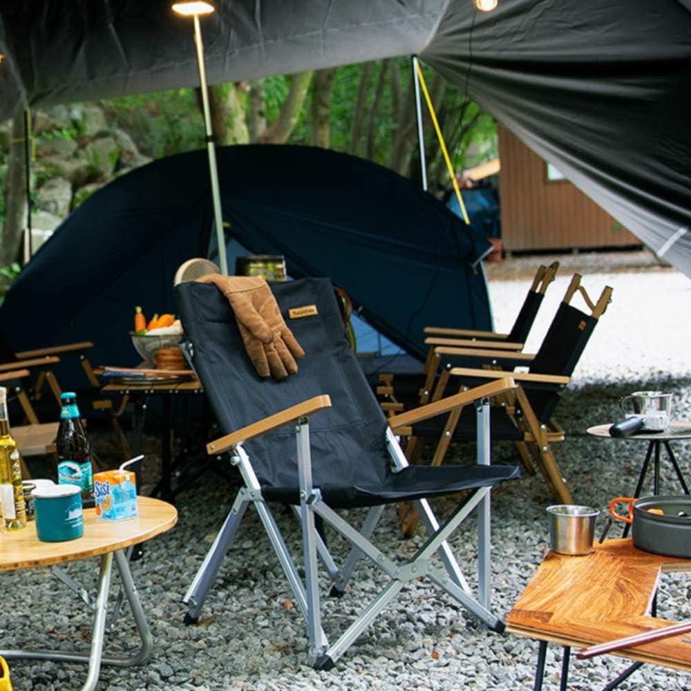 NC56 Kleiner Camping Klappstuhl Tragbarer Picknick Grill Aufbewahrungsstuhl Outdoor Angeln Rückenlehne Kleiner Stuhl Outdoor Angeln Urlaub Strand Reise Tragbar,Black Black