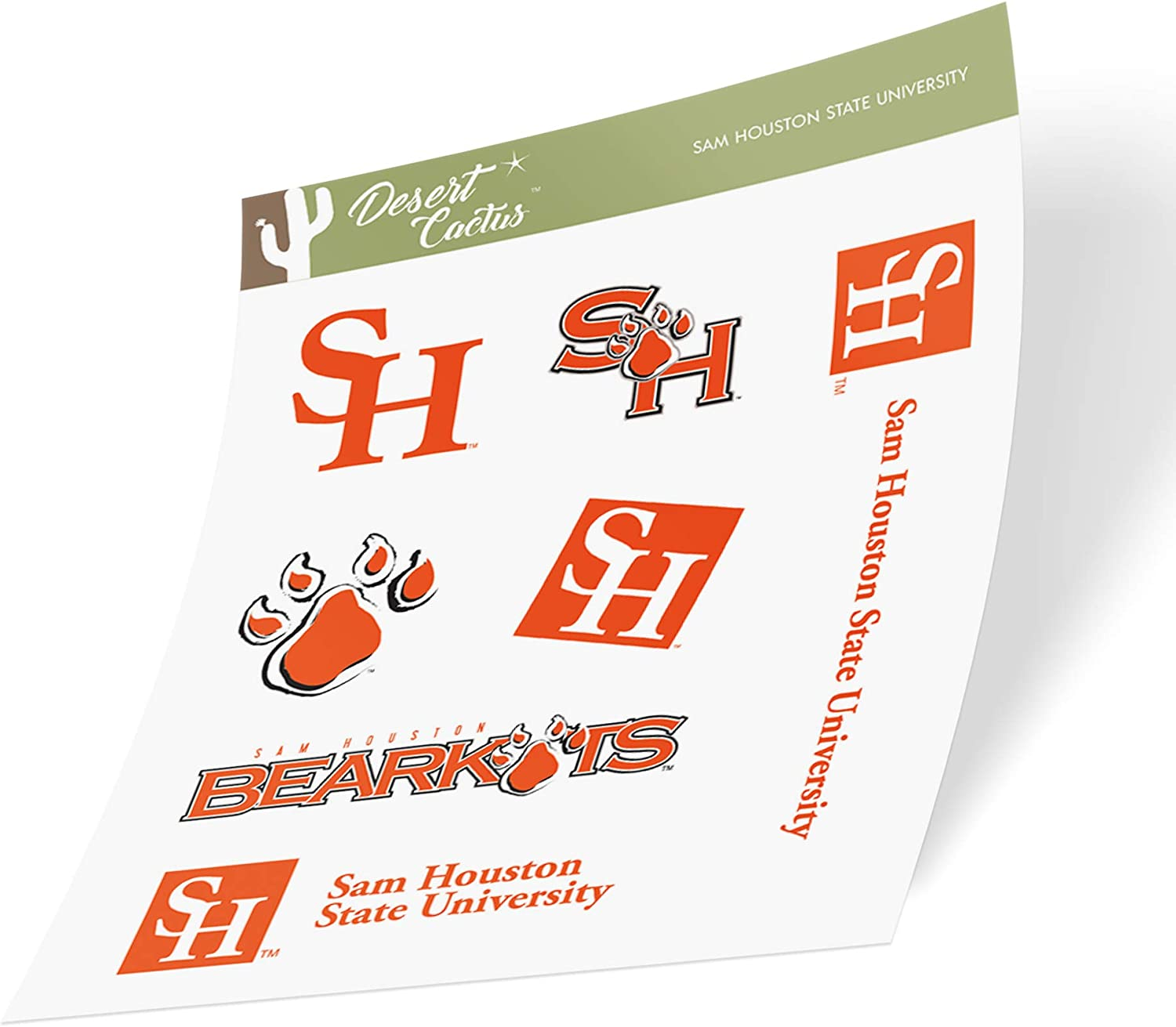 Sam Houston State University SHSU Bearkats NCAA Sticker Vinyl Decal Laptop Water Bottle Car Scrapbook (Type 2 Sheet)