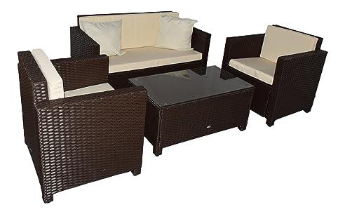 gartenlounge rattan g nstig. Black Bedroom Furniture Sets. Home Design Ideas