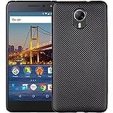 YHUISEN Case Cover Antiurto In Fibra Di Carbonio Slim Gomma TPU Ibrido Di Google Android One General Mobile GM5 Plus ( Color : Black )